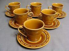 6 Homer Laughlin Golden Harvest Cups & 6 Saucers