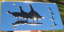 Trophy Turkey and Tracks Hunting Mirrored Laser Cut acrylic License Plate