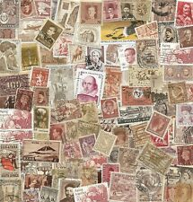 100 Brown & Tan Real Postage Stamps Scrapbook Arts Crafts Collage Decoupage