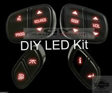 GMC Chevrolet Steering Wheel Switch Control Button DIY LED Upgrade Kit, Red