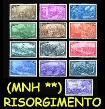 ITALIA Repubblica 1948 Serie Risorgimento Italiano MNH ** Integri