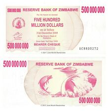 Zimbabwe 500 Million Dollars 2008 P-60 Banknotes UNC