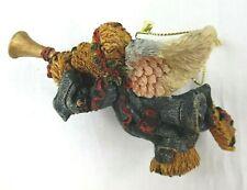 """Boyds Bears Rare Retired Resin Ornament """"Faith.Angel Bear With Trumpet"""" Nib!"""