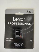 Lexar Professional 64GB/ 128GB 1667x SDXC SDHC Memory Card / Cartão de memória