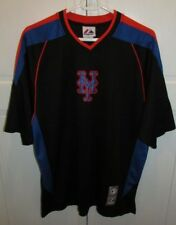 NY Mets Majestic Batting Practice Warm Up Jersey Short Sleeve Shirt Mens M