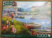 Boating Lake Alla Badsar Falcon de Luxe Jigsaw Puzzle 1000 Piece Complete Swan
