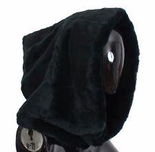 NWT $4600 DOLCE & GABBANA Green Weasel Fur Crochet Hood Scarf Hat One Size