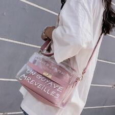 Womens Transparent  Handbag Shoulder Bag Chain Messenger Bag PVC Bag UK