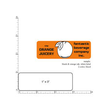 Custom Business Stickers 1 X 3 Printed Rectangle Labels 5000 On Rolls