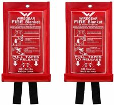 Emergency Fire Blanket Quick Release In Case For Home Office Car 2 Pack