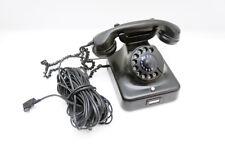Siemens w48 baquelita teléfono negro con dial y tae enchufe