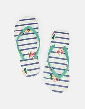 Joules 210699 Womenss Flip Flops - POSY BLUE STRIPE