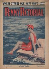 """WEEKLY """"PENNY PICTORIAL"""" (12 August 1916) JELLICOE - PULP FICTION - YOUNGHUSBAND"""