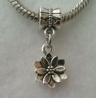 Garden Flower Dangle Charm Bead Fits European Style Bracelet Or Clip On Charm