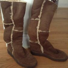 Arche Brown Leather Shearling Lined Boots Size 36