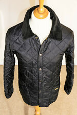 Barbour UK Mens LIddesdale Medium Length Quilted Jacket Black RRP £130 - X SMALL