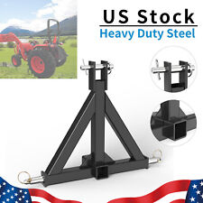 "3 Point 2"" Trailer Hitch Receiver Tow Drawbar Heavy Duty Steel For Cat 1 Tractor"