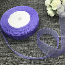 5 yards 2inch 50mm width Satin Edge Sheer Organza Ribbon Hair Bow Light purple