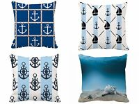 EXTRA 25% OFF 100% Cotton Double-Sided Cushion Covers 40X40cm Nautical Designs