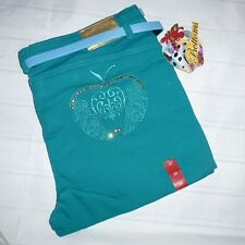 NEW! Apple Bottoms 20 dark teal blue capris cropped pants jeans stretch (C43)