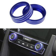 Blue Aluminum Ring Knob Trim Cover For 2016-2018 Honda Sedan Civic Hatchback