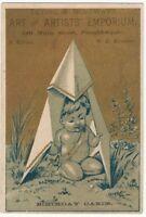 1870s Poughkeepsie New York Art & Artists Emporium Trade Card