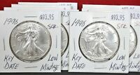 1996 Silver American Eagle Coin BU 1 oz US $1 Dollar Mint Uncirculated Scratched