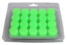20 piezas x Verde RUEDA SILICONA 19mm Tuerca/TORNILLO/Cubiertas Para Tornillos