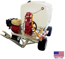 Sprayer Commercial - Trailer Mounted - Belt Drive 10 Gpm - 500 Psi - 200 Gallon