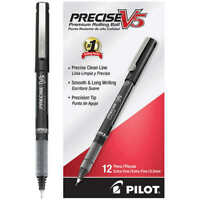 Pilot Precise V5 Stick Rollerball Pen, Extra Fine Point, Black, 12-count, New