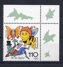Bund Mi-Nr 1992 Ecke 2 (110+50 pf) Für die Jugend Biene Maja ** Postfrisch 1998