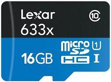 Lexar 633x 16GB C10 95MB/s Micro SD SDHC TF UHS-I Class 10 microSDHC Memory Card