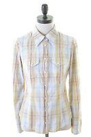 GAS Womens Shirt Size 10 Small Multi Check Cotton