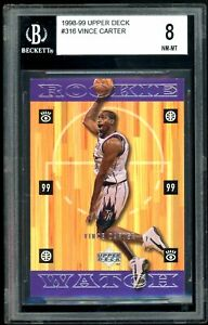 Vince Carter 1998-99 Upper Deck Rookie Watch Rookie Card #316 BGS 8 NM-MT RC