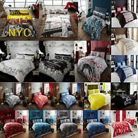 Duvet Cover & Pillowcases Quilt Cover Bedding Set Single Double & King