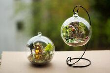DIY Wooden Dollhouse Miniature 3D Handwork Model Kit In Glass Ball LED Light G15