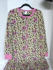 Pink Cheetah One Piece Jumpsuit Pajamas Zip Up Lounge House Sleep Wear Costume
