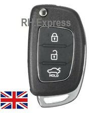 "FOR Hyundai IX35 IX20 IX40 IX45 SANTA FE 3 Button FOB KEY CASE ""WITH LOGO"" A33"
