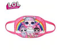 Masque en tissus lavable réutilisable protection pour enfant poupée LOL santé
