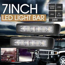 7inch 240W Cree Led Light Bar Work Driving Combo beam Offroad 4x4 Truck Jeep HID
