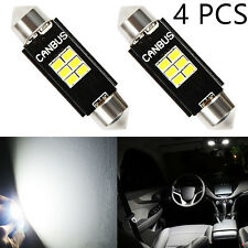 "JDM ASTAR 4x White 1.5"" 36MM 3020 SMD Festoon LED Bulb 6411 6513 6418 C5W DE3423"