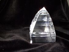 """Beautiful Swarovski Figurine Paperweight Pyramid Clear 2 3/8"""" Inches in Height"""