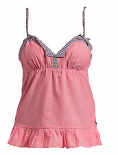 NEW JUICY COUTURE WOMENS CHAMBRAY CAMI CAMISOL SLEEP TANK TOP SLEEPWEAR SHIRT L