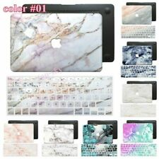 Marble Skin Painted Rubberized Hard Case +Keyboard Cover For New Macbook Pro Air