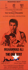 Muhammad Ali Signed Film Premiere Ticket 'The Greatest' 1977 - reprint