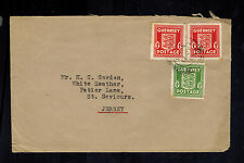 1943 Guernsey England Channel Islands Occupation Cover to jersey