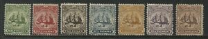 Turks & Caicos Islands 1900-04 values to 1/ mint o.g. hinged