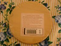 "Longaberger Sunwashed Yellow 5"" or 5 inch  Keeping Booking Basket WoodCrafts Lid"
