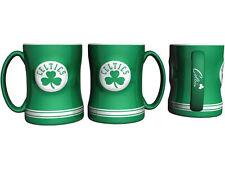 Boston Celtics Coffee Mug Relief Sculpted Team Color Logo  14 oz NBA