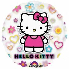 See Thru HELLO KITTY Hearts Birthday Party Mylar Jumbo Balloon